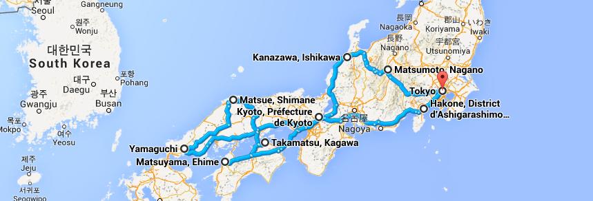 Oliver Trips aux antipodes : itinéraire au Japon