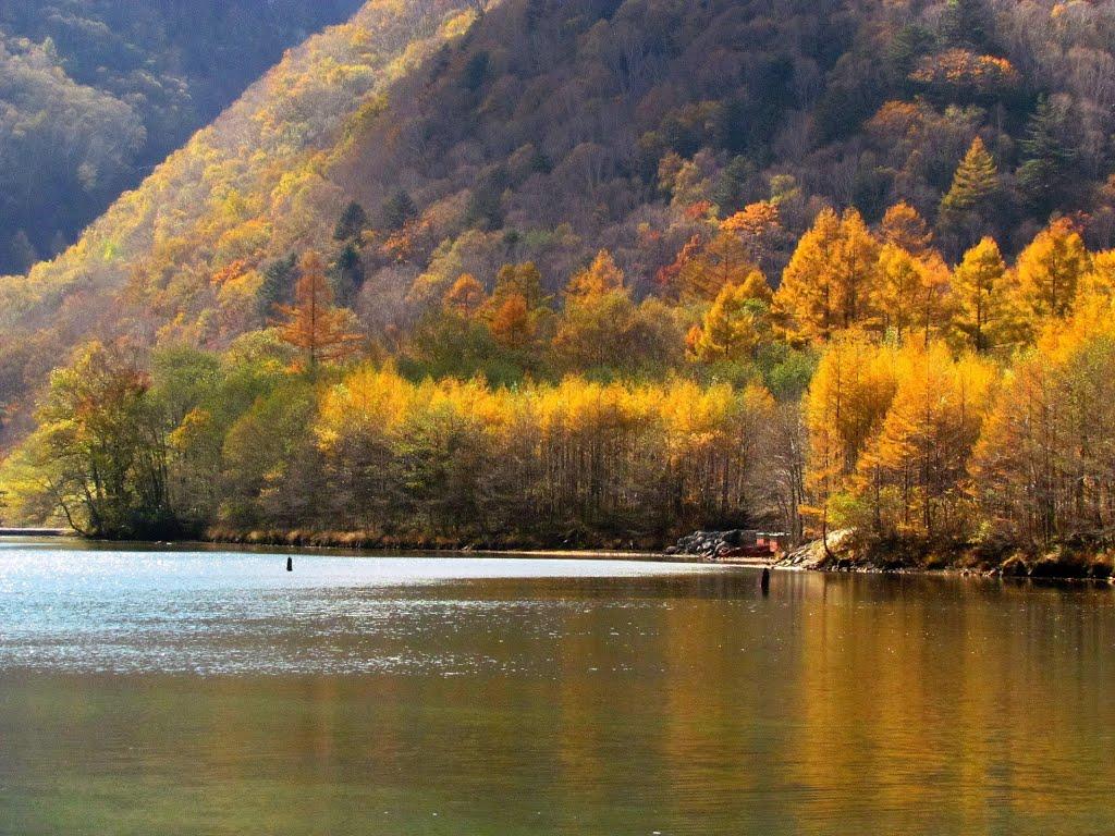 Alpes japonaises à l′automne