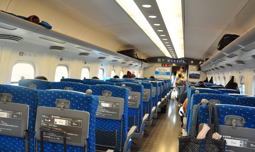 Shinkansen : vaste espace intérieur