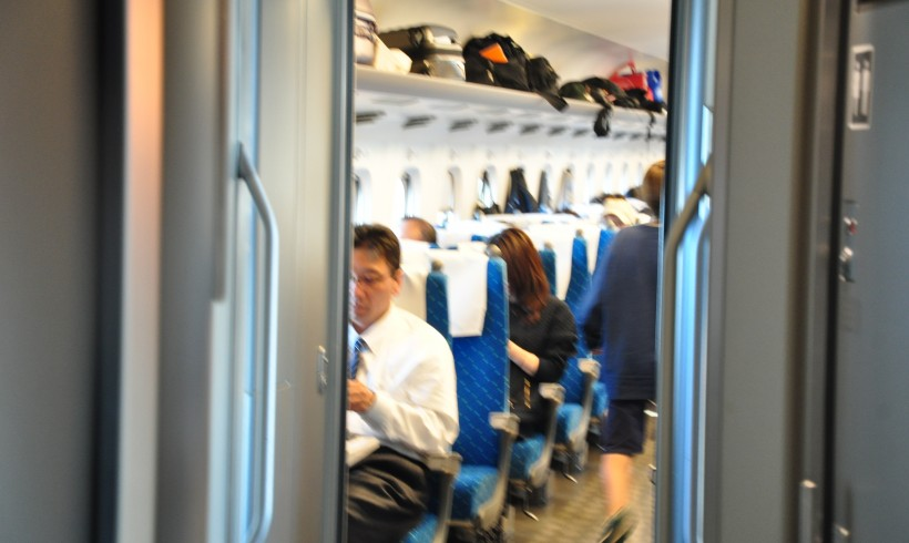 Dansle Shinkansen entre Nagoya et Maïbara