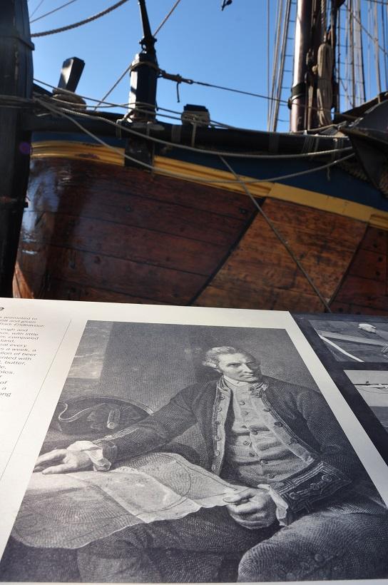 Portait de James Cook, capitaine de l′Endeavour