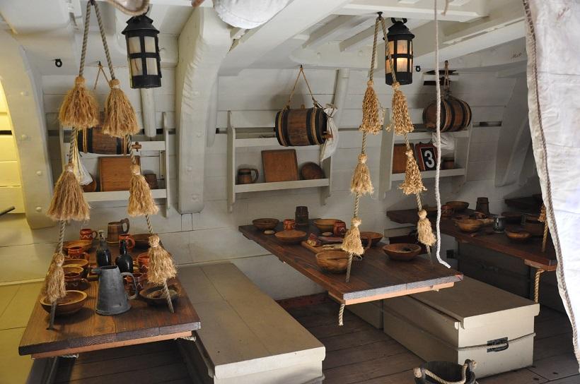Le mess de l′Endeavour et de l′équipage du Capitaine Cook