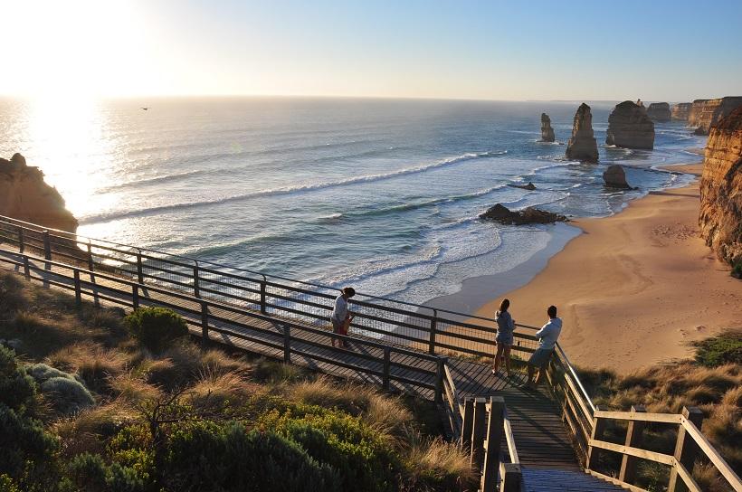 Coucher de soleil sur la Great Ocean Road