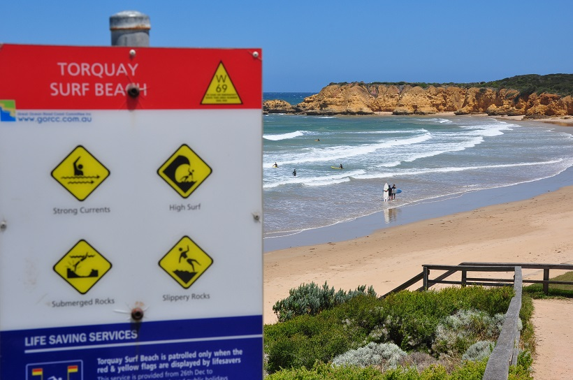 Plage de surf de Torquay