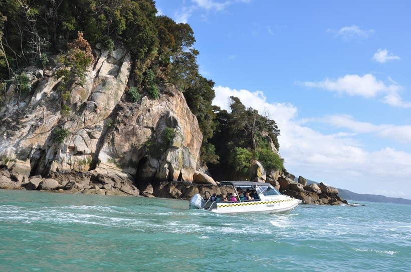 Water Taxi pour le paradis à Abel Tasman