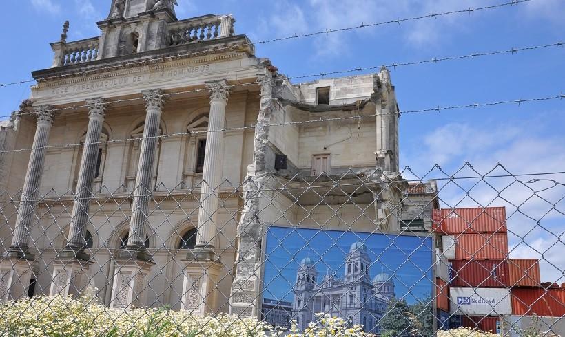 Avant et après le tremblement de terre de Christchurch de 2011