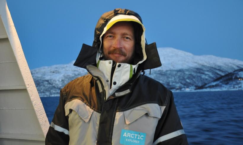 En attendant les aurores boréales à Tromso, Norvège