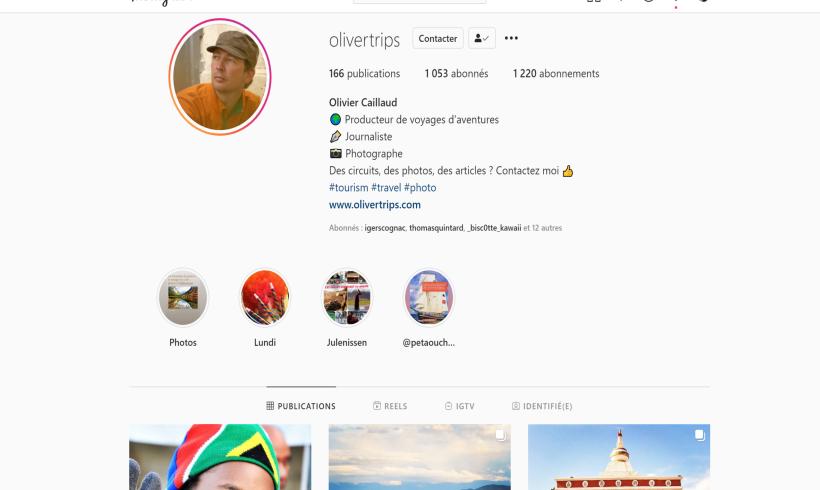 Rejoignez les 1000 abonnés Instagram @olivertrips !